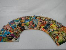 A quantity of comics including Black Hawk, Justice League of America, The Flash etc.