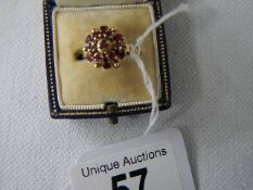 A 14 ct gold amethyst cluster ring, size L. ****Condition report**** Weight approx.