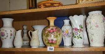 A mixed lot of ceramic vases and jugs.