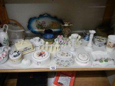 A mixed lot of interesting ceramics including Lurpak butter dish, toast rack, lidded trinket pots,