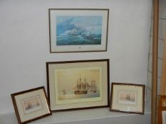 Four framed and glazed nautical prints including a pair and limited editions, all in good condition.