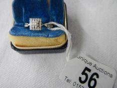 A 9ct gold ring set diamonds with diamond set shoulders, size P.