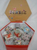 A boxed set of Avoca, Ireland Jumble Mugs.