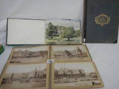 An old sketch book from 1940's with 6/7 watercolours and drawings together with 4 old photographs