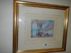 An original print from the Tate Gallery of a J M W Turner, 1775-1851 RA painting, 43 x 38 cm.