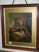 A good quality oak framed and glazed original Pear's print (chip out of top right of frame),