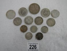 Approximately 147 grams of pre 1947 silver coinage.