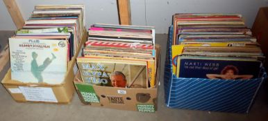 A large selection of vinyl LP records, Max Jaffa, Gilbert O'Sullivan, Marti Webb,