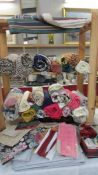 A good lot of fabric including Laura Ashley and a Laura Ashley single valance.