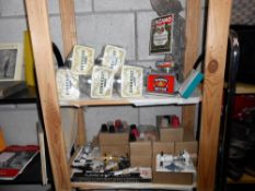 A quantity of breweriana including optics new in boxes, barrel taps, pourers, fermenation lock,