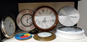 A selection of battery operated kitchen clocks etc.