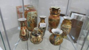 7 Assorted size Chinese vases, 2 a/f.