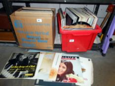 2 boxes of LP records (classical & pop etc.