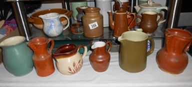 A large quantity of pottery including Denby, Chris Aston, Royal Worcester, Honiton etc,