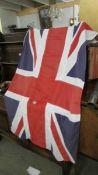 A good quality cloth Union Jack flag. ****Condition report**** Size 83cm x 160cm.
