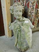 A good antique figure head, sadly a/f.