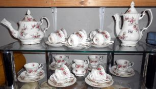 A Royal Albert Lavender Rose 32 piece tea and coffee set all pieces in good condition
