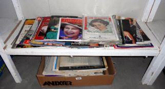 A quantity of Royal memorabilia magazines and newspapers (includes other (papers)