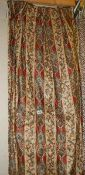 2 pairs of striped and paisley patterned curtains (pairs have different trim and curtain ribbon),