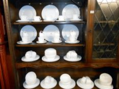 133 pieces of white dinnerware, by Arcropal, France, 30 each of dinner plates, side plates, saucers,