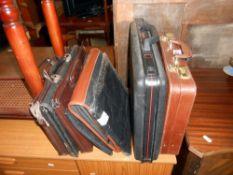 A quantity of briefcases/attache/document cases etc,