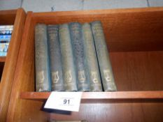 6 volumes of Poetical works by Burns, Milton, Scott,