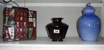 A quantity of pottery by studio pottery artist Harry Shotton