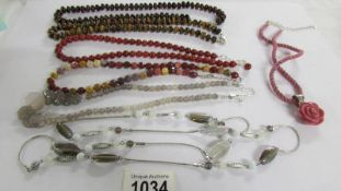 7 assorted stone necklaces. ****Condition report**** In good condition.