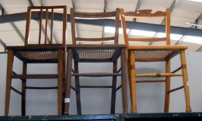 3 vintage chairs with bergere seats (3 different styles)