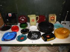 A good selection of breweriana pub advertising ashtrays etc.