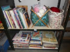2 shelves of assorted craft books, mainly quilt making, silk painting, embroidiery etc.