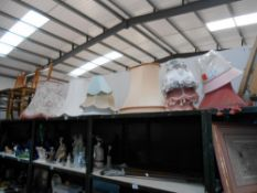 A quantity of lampshades