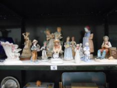 A large Victorian bisque figure group a/f, and a good lot of other figures,