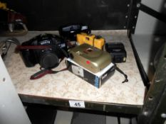 A camera, Olympus Vivitar,
