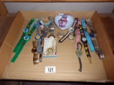 Approx 20 watches, some missing straps, in varying condition,