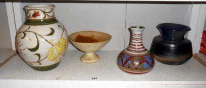 4 items of pottery by studio pottery artist Harry Shotton