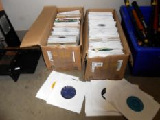 A large quantity of 45's singles vinyl records in plain sleeves, Ross Conway, Adam Faith etc,