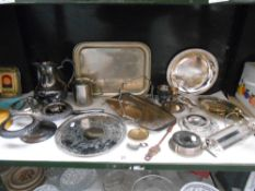 A good selection of silver plated items including trays etc.
