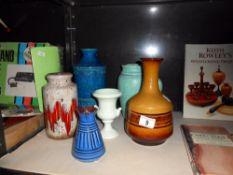 A Cinque Ports pottery Rye, West German vases etc.