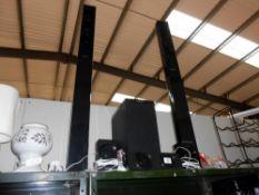 2 sets of 3 Panasonic speakers (2 towers,
