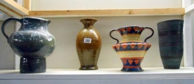 A quantity of pottery items by studio artist potter Harry Shotton