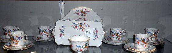 A Royal Worcester Hammersley 21 piece teaset ****Condition report**** Some smaller