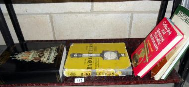 A selection of old books on clocks and barometers