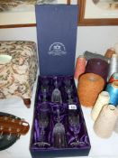 A boxed set of 6 Royal Crystal Rock champagne glasses,