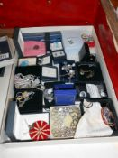 A good selection of costume jewellery and some silver jewellery