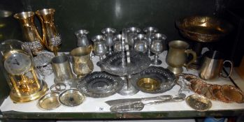 A quantity of silver plate and other items