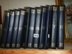 17 binders containing copies of 'Birds of The World'.