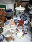 A quantity of pottery and china items