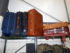 6 old suitcases