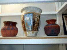 3 pottery items by studio pottery artist Harry Shotton